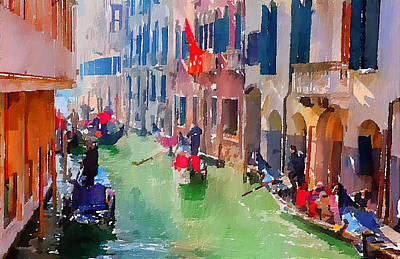 Digital Art - Venice Beautiful 13 by Yury Malkov