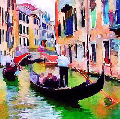 Digital Art - Venice Beautiful 15 by Yury Malkov