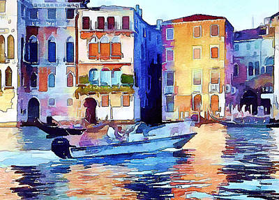 Digital Art - Venice Beautiful 16 by Yury Malkov