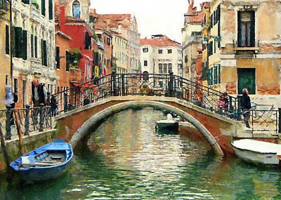 Digital Art - Venice Beautiful City 1 by Yury Malkov