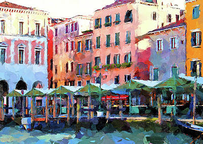 Digital Art - Venice Beautiful City 3 by Yury Malkov