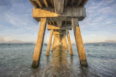 Pier Digital Art - Venice Below The Pier II by Jon Glaser
