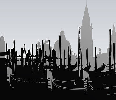 Venice Digital Art - Venice Black And White by Alberto  RuiZ