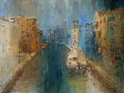 Digital Art - Venice Blue And Yellow by Yury Malkov
