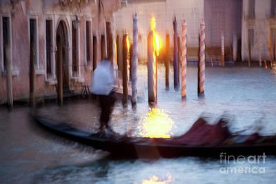Venice Blue Hour 1 Art Print by Heiko Koehrer-Wagner