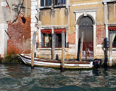 Photograph - Venice Boat At Home by Cheryl Boyer