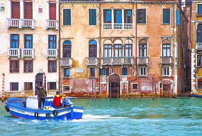 Venice Photograph - Venice Boat Under The Rain by Jean-luc Bohin