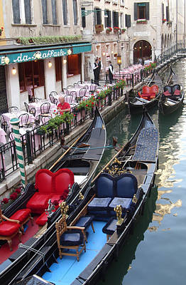 Venice Boats Art Print by Nina Simeonova