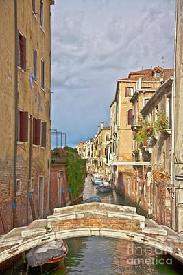 Venedig Photograph - Venice Bridge Crossing 1 by Heiko Koehrer-Wagner