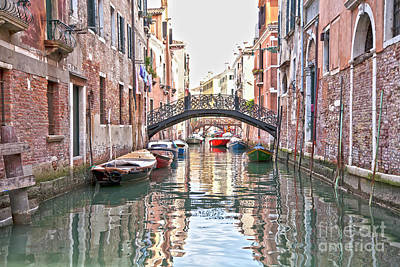 Venedig Photograph - Venice Bridge Crossing 2 by Heiko Koehrer-Wagner