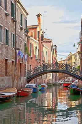 Venice Bridge Crossing 5 Print by Heiko Koehrer-Wagner