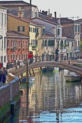 Venice Bridge Crossing 6 Art Print by Heiko Koehrer-Wagner