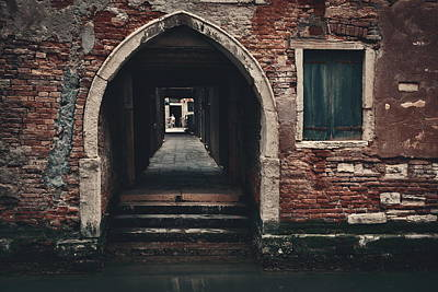 Photograph - Venice Building Hallway by Songquan Deng