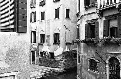 Photograph - Venice Building View by John Rizzuto