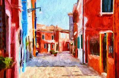 Digital Art - Venice Burano Beauty 5 by Yury Malkov