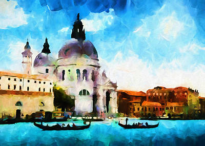 Mixed Media - Venice By Day - Abstract Realism by Georgiana Romanovna