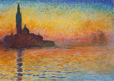 Painting - Venice By Twilight by Claude Monet