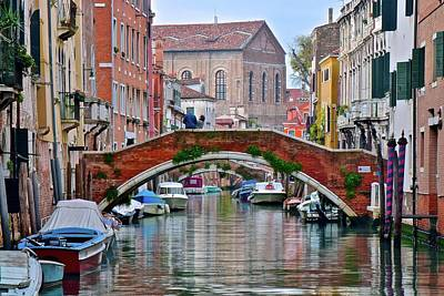 Photograph - Venice Canal As Seen In The Italian Job by Frozen in Time Fine Art Photography