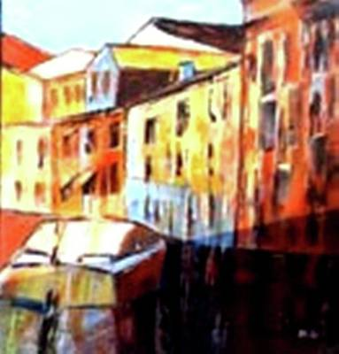 Painting - Venice Canal Cruise 3 by Miki Sion