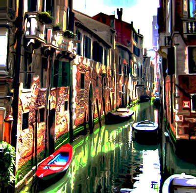 Venice Canal Original by  Fli Art