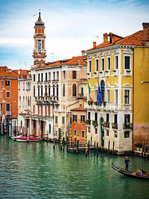 Photograph - Venice Canal Gondola by Debbie Karnes