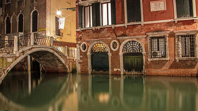 Photograph - Venice Canal In Evening  by John McGraw