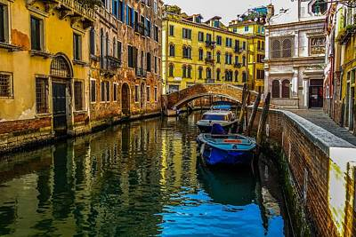 Photograph - Venice Canal In Italy by Marilyn Burton