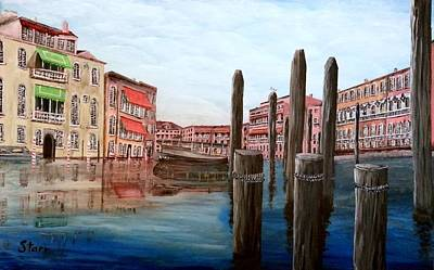 Venice Canal Art Print by Irving Starr