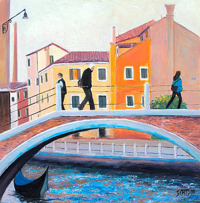 Venice House Painting - Venice Canal Painting by Jan Matson