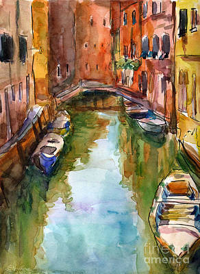 Venice Drawing - Venice Canal Painting by Svetlana Novikova