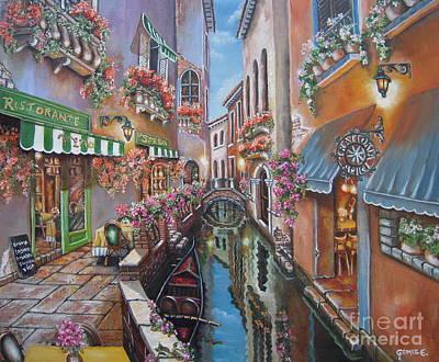 Venice Canal Reflections Art Print by Elizabeth Gomez