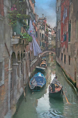 Wall Art - Photograph - Venice Canal by Ron Morecraft