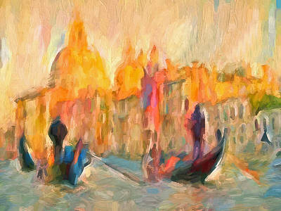 Digital Art - Venice Canal Tours by Yury Malkov