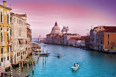 Transportations Photograph - Venice Canale Grande Italy by Dominic Kamp Photography