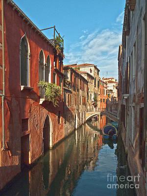 Venedig Photograph - Venice Canaletto Mirror by Heiko Koehrer-Wagner