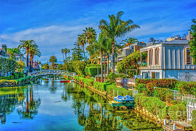 Thomas Kinkade - Venice Canals and Houses 4 by David Zanzinger