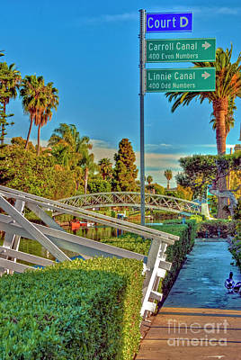Photograph - Venice Canals Luxury Houses by David Zanzinger