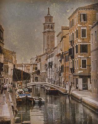 Photograph - Venice, Italy - Carmini Campanile by Mark Forte
