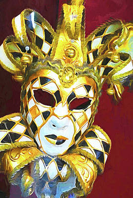 Mixed Media - Venice Carnival Mask by Dennis Cox Photo Explorer