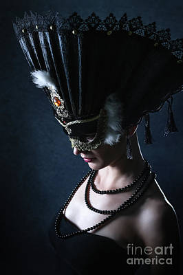 Art Print featuring the photograph Venice Carnival Mask by Dimitar Hristov