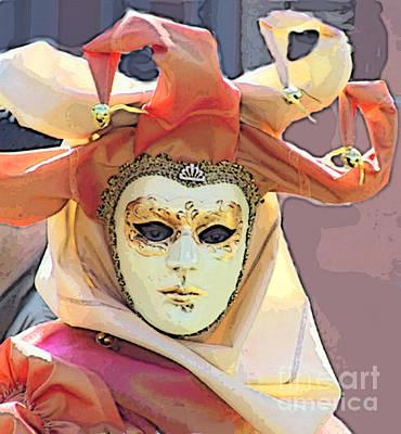 Photograph - Venice- Carnivalmask by Italian Art