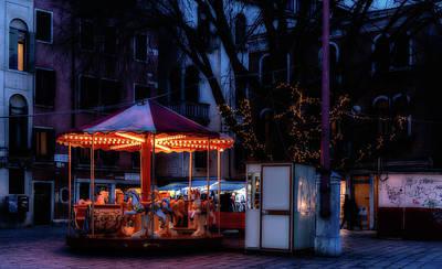 Photograph - Venice Carousel At Night by Georgia Fowler