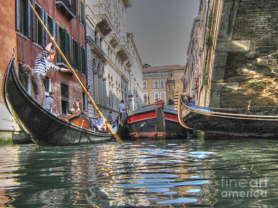 Pyrography -  Venice Channelsss by Yury Bashkin