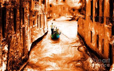 Venice City Art Print by Gull G