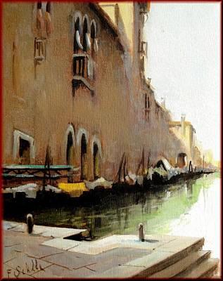 A Summer Evening Landscape Painting - Venice Cityscape by Schiller