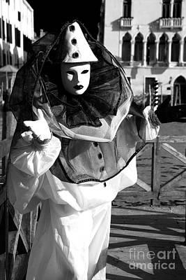 Photograph - Venice Clown Shadows by John Rizzuto