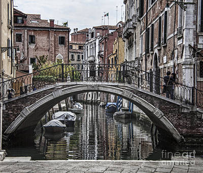 Photograph - Venice Crossing by Shirley Mangini