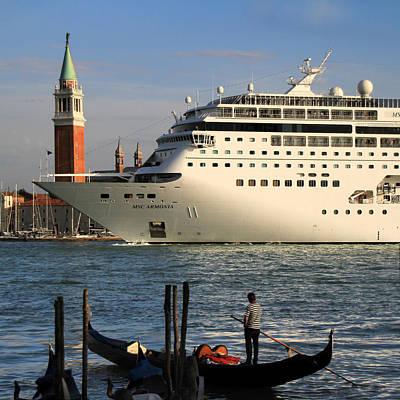 Photograph - Venice Cruise Ship 2 by Andrew Fare