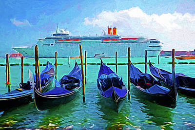 Photograph - Venice Cruise Ship by Dennis Cox WorldViews