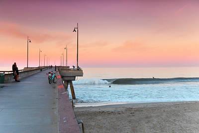 Venice Beach Photograph - Venice Dawn by Sean Davey